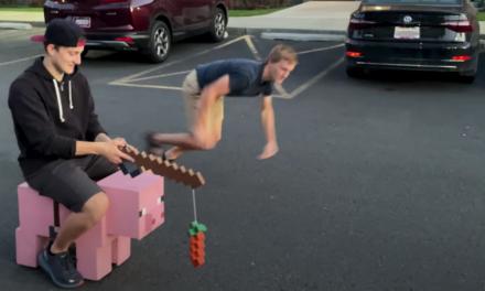 YouTuber baut 30km/h schnelles Minecraft-Schwein